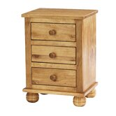 Belmont 3 Drawer Bedside Table