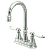 Madison Centerset Bar Faucet with Porcelain Lever Handles