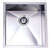 Town Square Undermount Single Bowl Kitchen Sink in Brushed Nickel