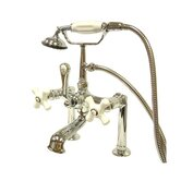 Hot Springs Deck Mount Clawfoot Tub Faucet with Handshower