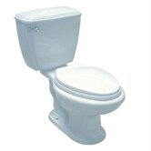 Ecoline Close Coupled Toilet in White