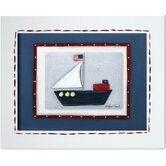 Transportation Sailboat Framed Giclee Wall Art