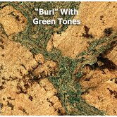 3' x 1' Cork Tiles in Burl with Green Tones