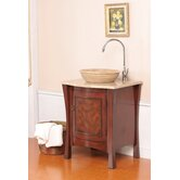 "Duiberg Single Vessel 26"" Bathroom Vanity in Antique Cherry"