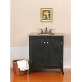 "Strasbourg Single 33.5"" Bathroom Vanity in Black"