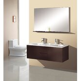 "Matteo 51"" Double Sink Bathroom Vanity Set in Espresso"