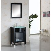 "Ava Single 24"" Bathroom Vanity Set in Espresso"