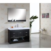 Gloria Single 48&quot; Bathroom Vanity Set in Espresso