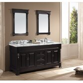 "Huntshire 72"" Double Sink Bathroom Vanity in Dark Walnut"