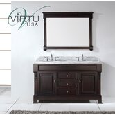 "Huntshire Double Sink 60"" Bathroom Vanity"
