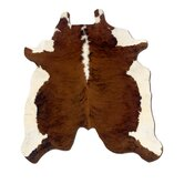 Natural Cowhide Full Skin Dark Brindle Rug