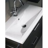 "Luna 31.5"" Fitted Ceramic Sink in White"