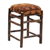 Hickory Square Barstool with Upholstered Seat