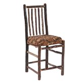 Hickory Bar Chair with Upholstered Seat