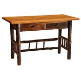 Reclaimed Barnwood Writing Desk with 2 Drawer