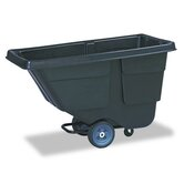 Value Line Tilt Truck, Plastic w/Steel Frame, 300lb, Black