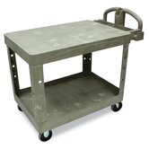 Commercial Flat Shelf Utility Cart