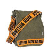 High Voltage Utility Messenger Bag in Orange