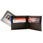 Bi-Fold Wallet with Duct Tape ID in Black