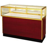 "Streamline 38"" x 70"" Jewelry Vision Standard Showcase with Panel Back"