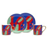 Robert Indiana &quot;Love&quot; 3 oz. Espresso Cup and Saucer