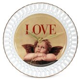 Love Cupid Porcelain Wall Clock