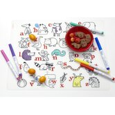 Alphabet Animals and Six Dry Erase Markers Kidz Box