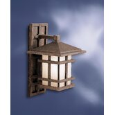 Cross Creek  Outdoor Wall Lantern in Aged Bronze