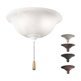Three Light Swirl Glass Ceiling Fan Light Kit
