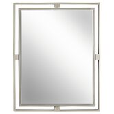 Hendrik Mirror in Brushed Nickel