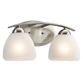 Caleigh  Vanity Light in Brushed Nickel