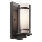 Camden  Outdoor Wall Lantern in Anvil Iron