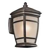 "Mcadams 14"" One Light Outdoor Wall Lantern in Rubbed Bronze"