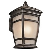 "Mcadams 21"" One Light Outdoor Wall Lantern in Rubbed Bronze"