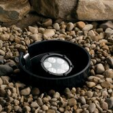 Landscape LED Six Light Landscape Inground Well Light in Textured Black
