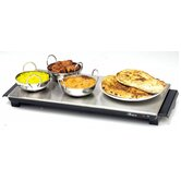 Aficionado Cordless Hot Tray in Brushed Steel