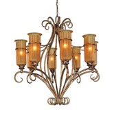 Lido 8 Light Chandelier with Tops