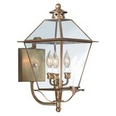 "Montgomery 19.5"" x 10.25""  Wall Lantern with Clear Seeded Glass"