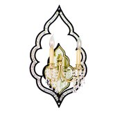 Bijoux  Wall Sconce in Antique Black / Classic Golden Silver