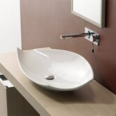 Kong 70 Above Counter Bathroom Sink in White