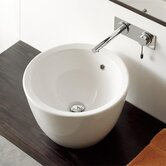 Matty Tondo Above Counter Bathroom Sink in White
