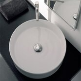Geo Above Counter Bathroom Sink in White