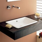 Gaia 50 Built-In Bathroom Sink in White