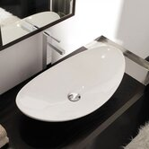 Zefiro 70 Above Counter Bathroom Sink in White