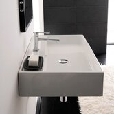 Teorema R 60 Wall Mounted Bathroom Sink in White