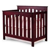 Ethan 2-in-1 Convertible Mini Crib in Cherry