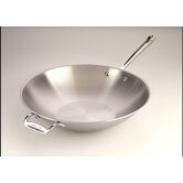 "Stainless 14"" Open Stir Fry Pan"
