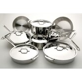 3-Ply Stainless Steel 14-Piece Cookware Set