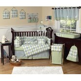 Argyle Green Blue Collection 9pc Crib Bedding Set