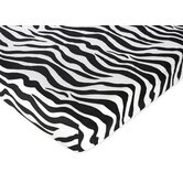 Zebra Pink Collection Fitted Crib Sheet  - Zebra Print